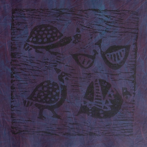 South African Panel - Dark Violet Guinea Fowl