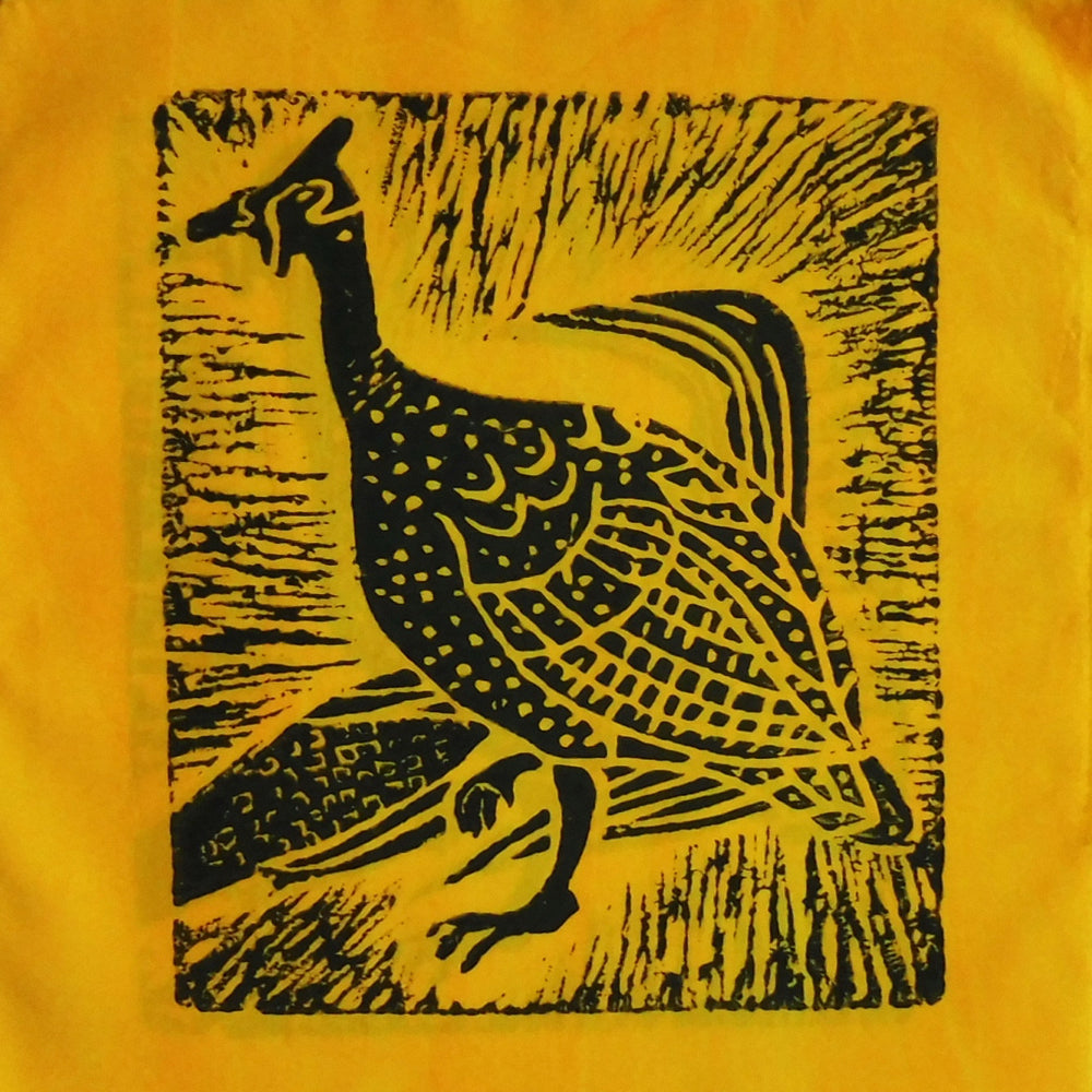 South African Panel - Guinea Hen in Bright Yellow