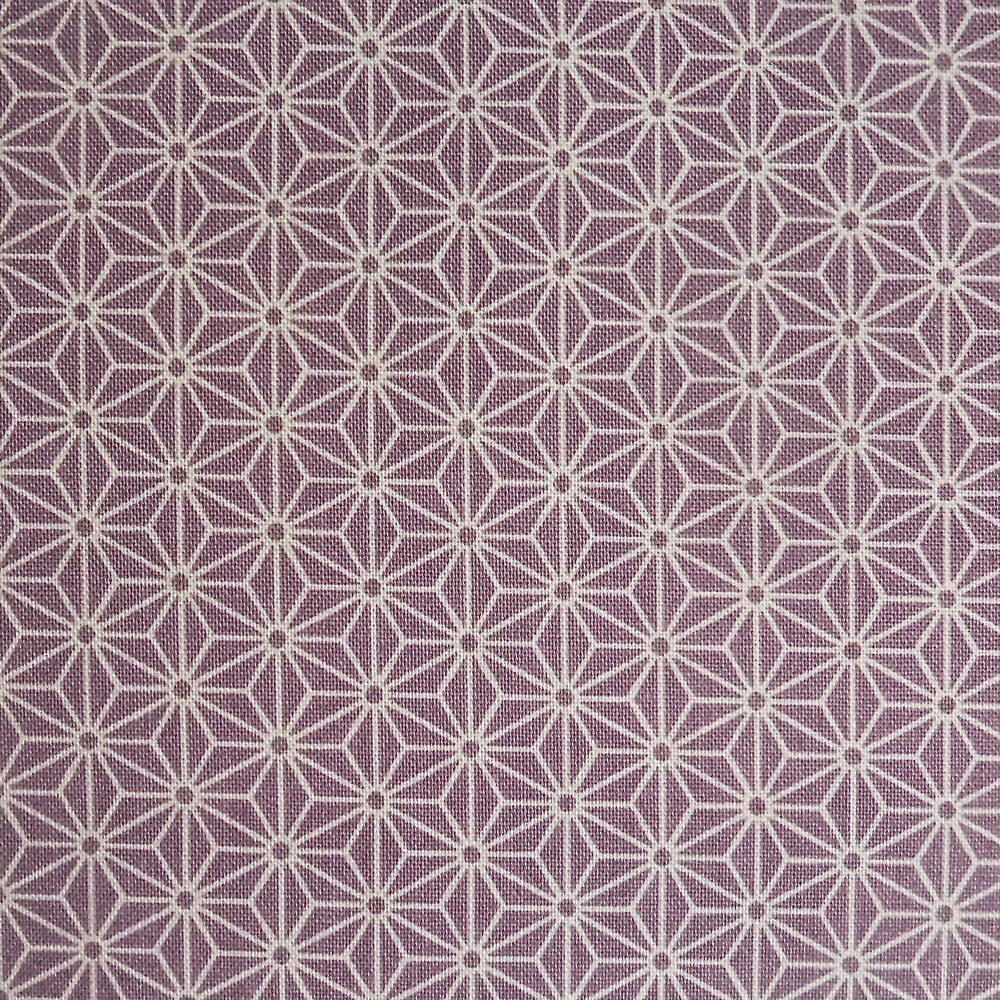 Japanese Quilting Print - Mauve Hemp Leaf