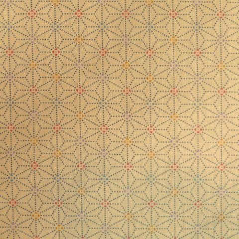 Japanese Quilting Print - Beige Speckled Hemp Leaf
