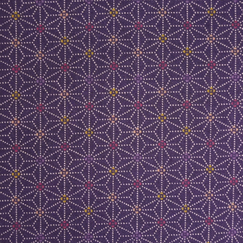 Japanese Quilting Print - OVERSTOCK - Purple Speckled Hemp Leaf