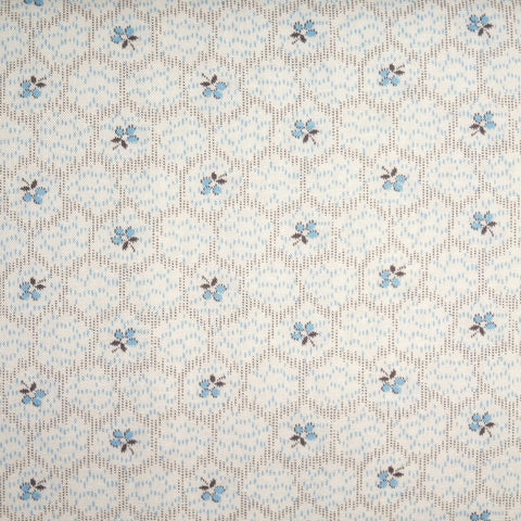 Japanese Quilting Print - Blue Hexagon
