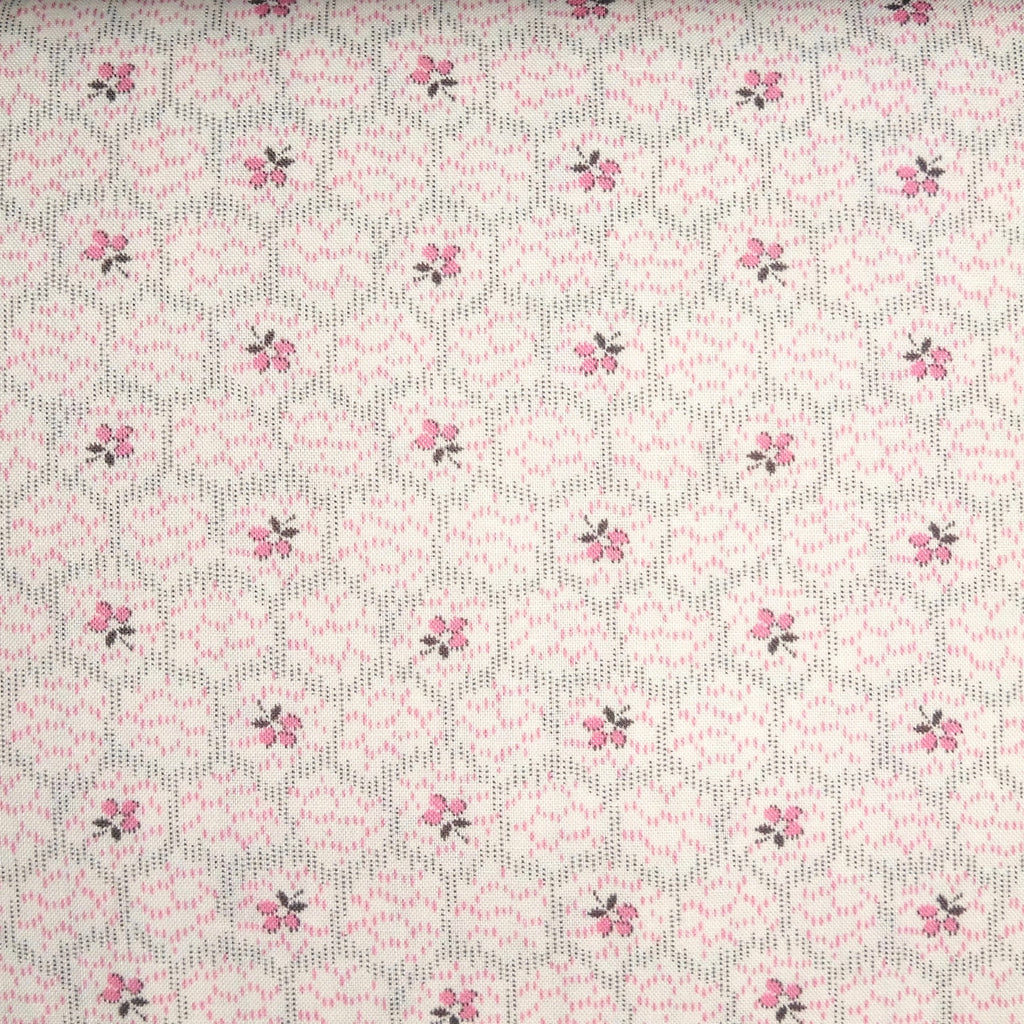 Japanese Quilting Print - Pink Hexagon