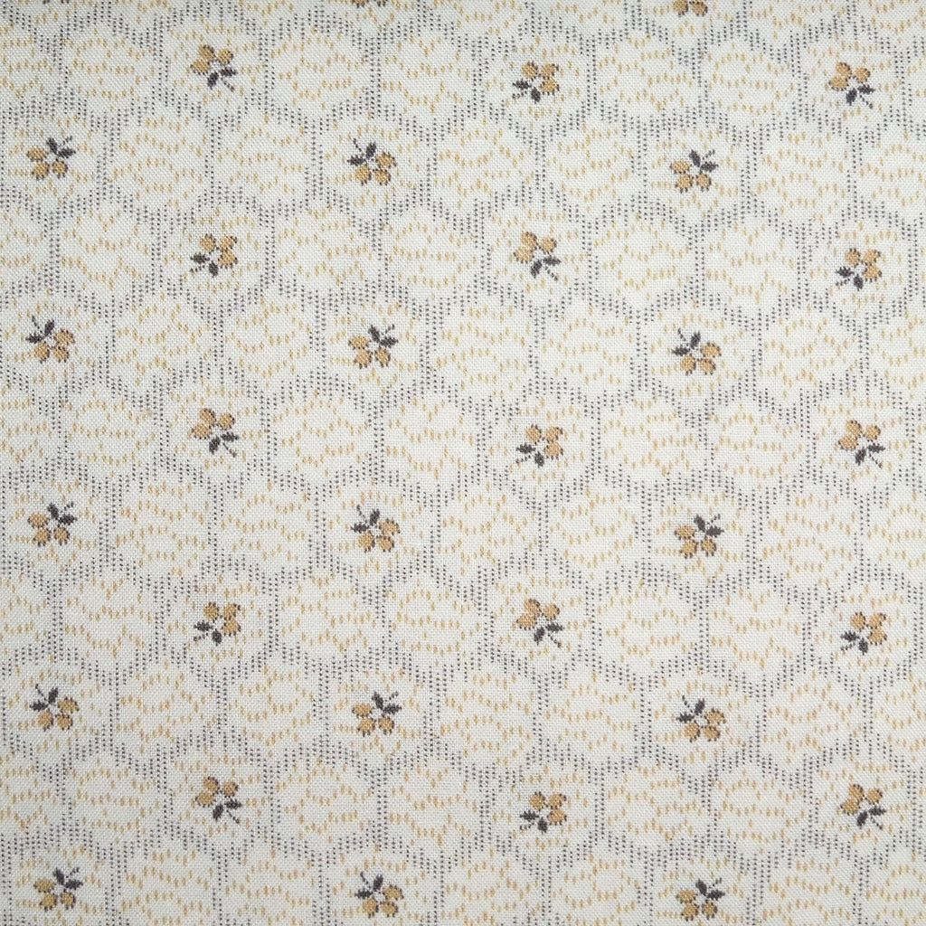Japanese Quilting Print - Tan Hexagon