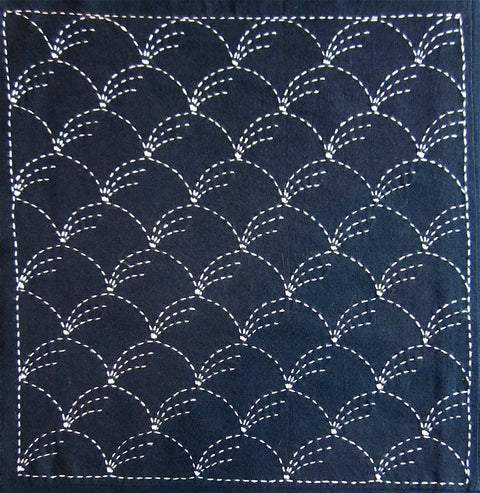 Sashiko Fabric - Nowaki (grass) panel number 201
