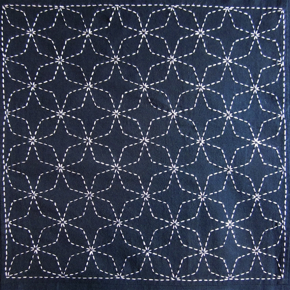 Sashiko Fabric - Hishi Shippo (diamond Seven Treasures) panel 202
