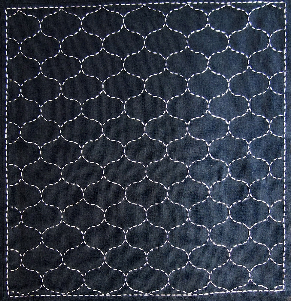 Sashiko Fabric - Amimon (fishing net) panel number 205