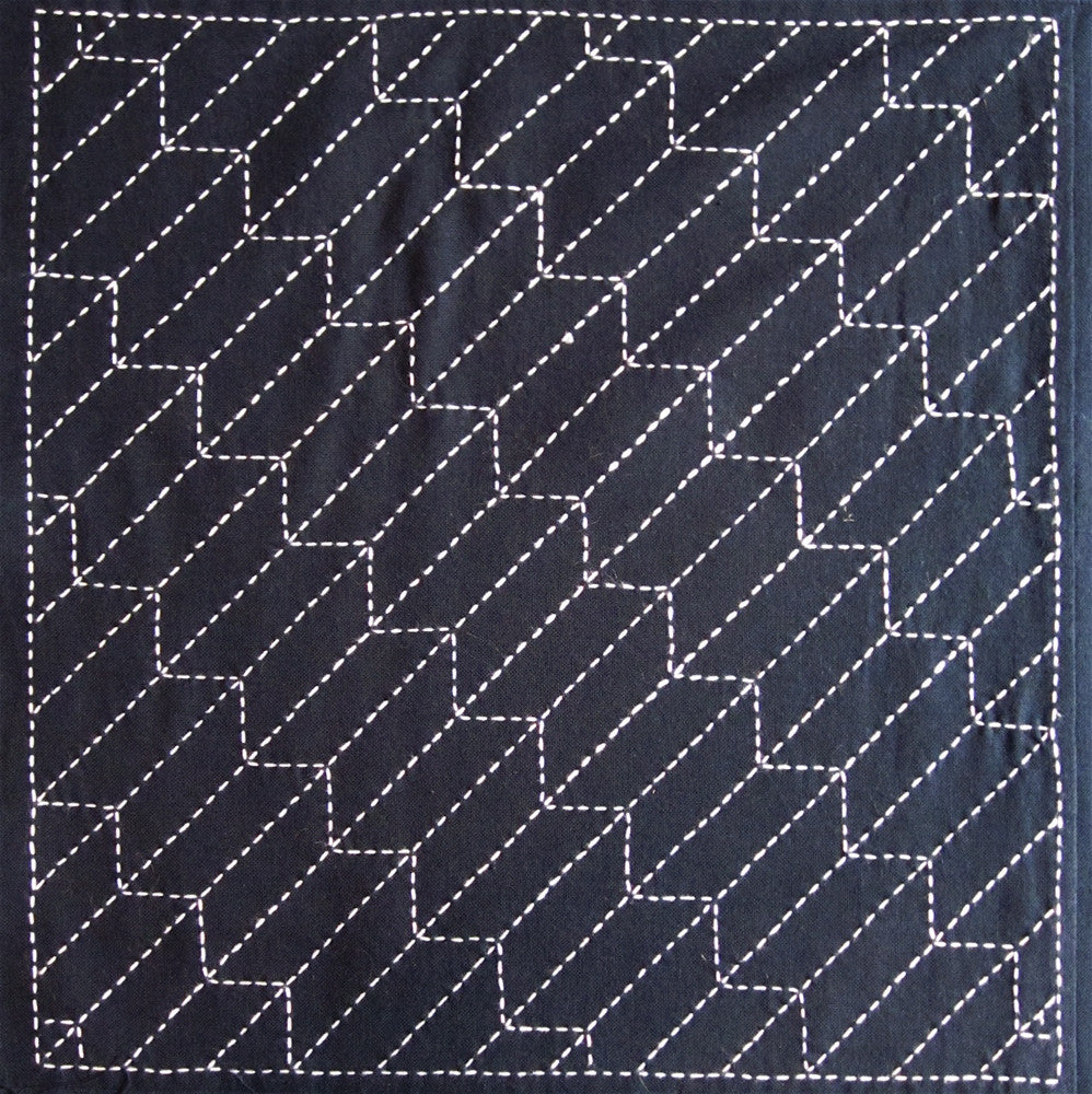Sashiko Fabric - Yabane (Arrow) panel number 209