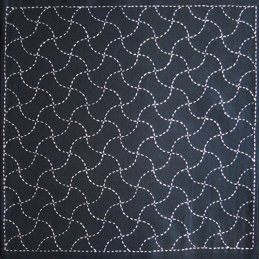 Sashiko Fabric - Fundo (Scale Weights) panel number 211