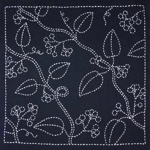 Sashiko Fabric - Nuts - panel number 213
