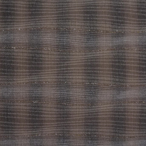 Japanese Yarn Dye - Kobayashi Brown and Black Wavy Plaid