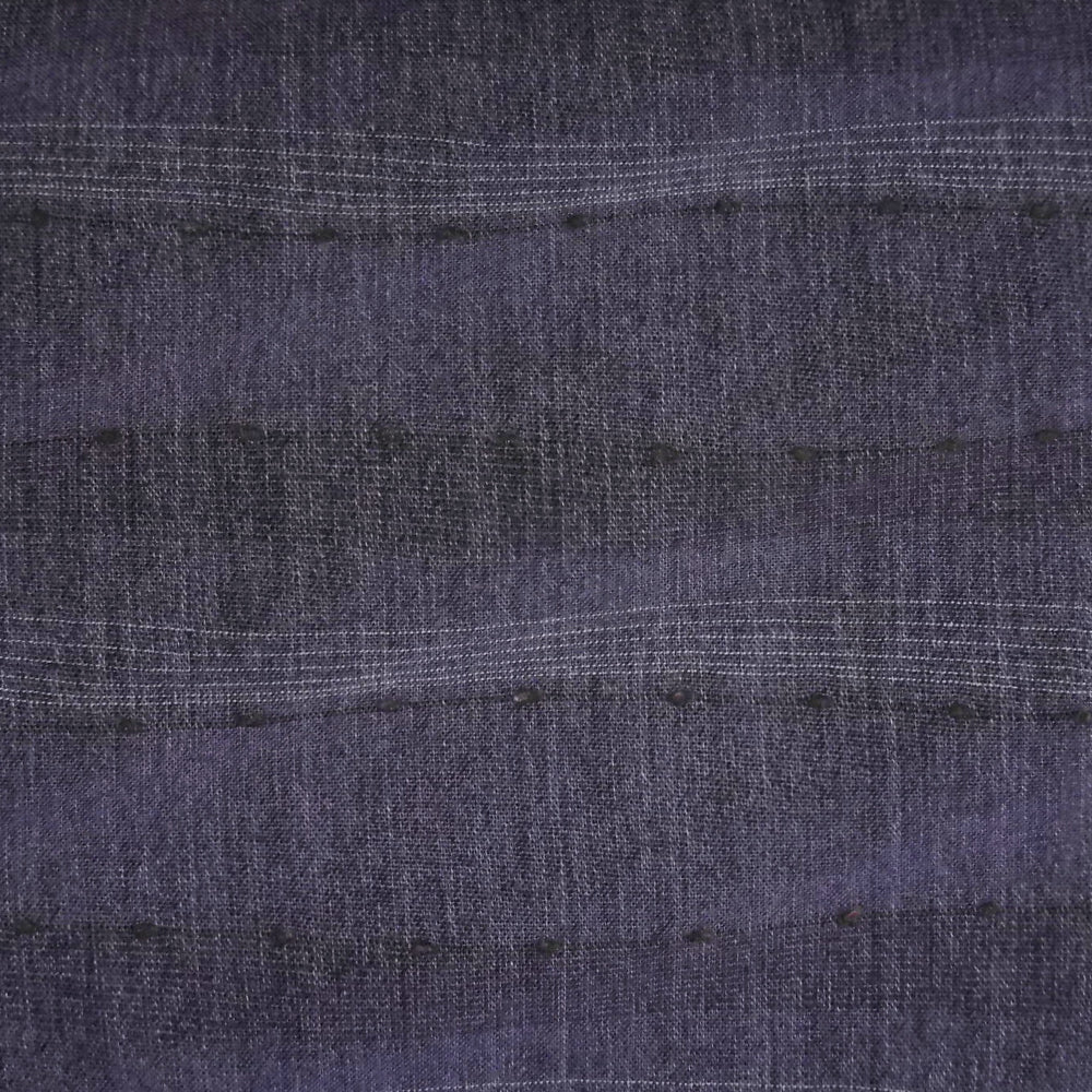 Japanese Yarn Dye - Kobayashi Purple Tufted Wavy Stripe