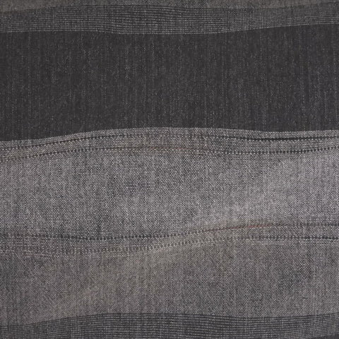 Japanese Yarn Dye - Kobayashi Charcoal Wide Wavy Stripe