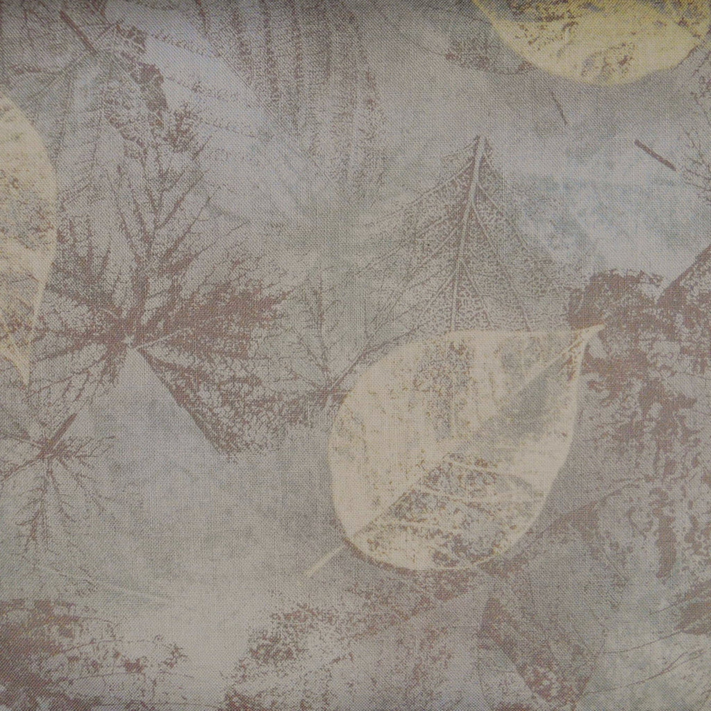Japanese Quilting Print - Grey Beech Leaf