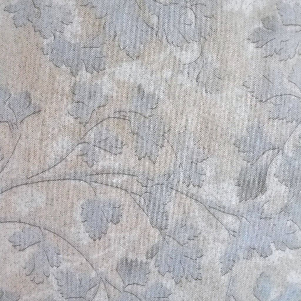 Japanese Quilting Print - Light Blue Leaf