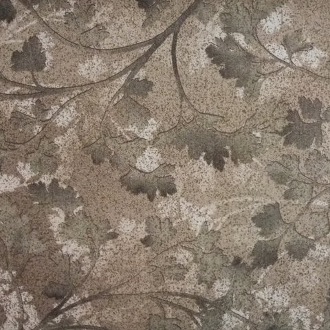 Japanese Quilting Print - Cool Brown Leaf