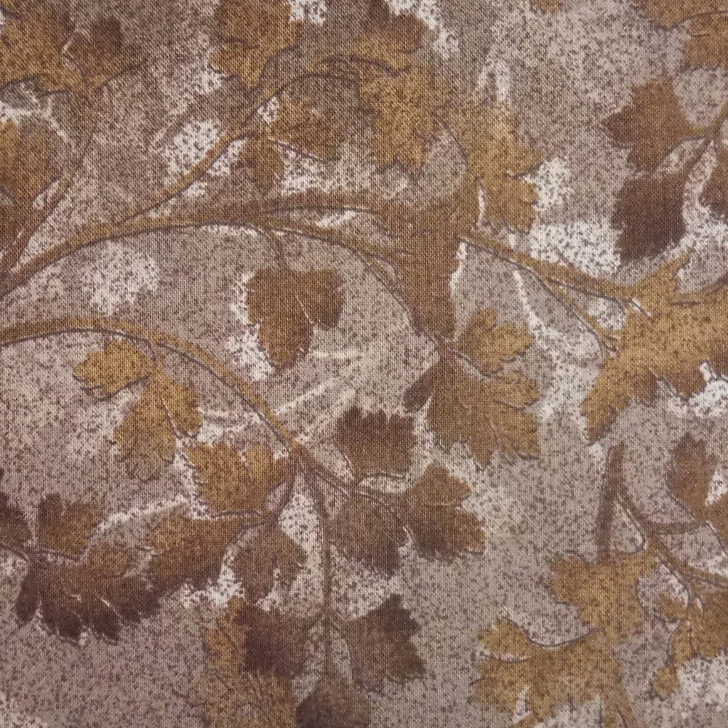 Japanese Quilting Print - Warm Brown Leaf