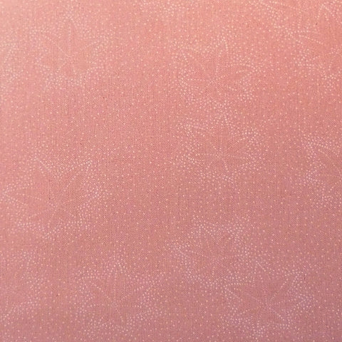 Japanese Quilting Print - Pink Leaf