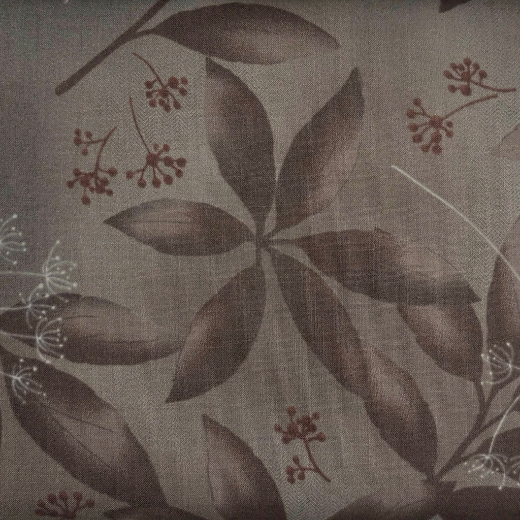 Japanese Quilting Print - Brown Clear Leaf