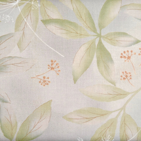 Japanese Quilting Print - Bright Green Clear Leaf