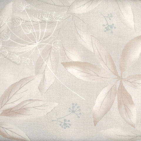 Japanese Quilting Print - Beige Clear Leaf