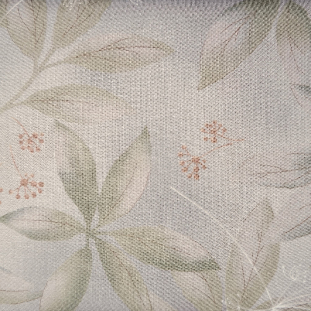 Japanese Quilting Print - Sage Green Clear Leaf
