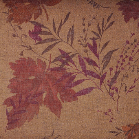Japanese Quilting Print - Rust Leaf and Sprig