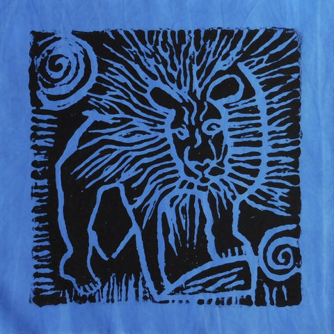 South African Panel - Lion in Purplish Blue