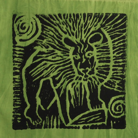 South African Panel - Lion in Avocado Green