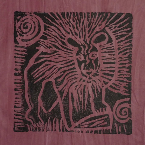 South African Panel - Lion in Plum