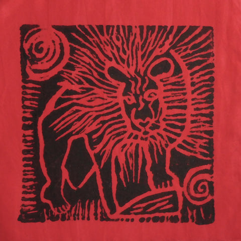South African Panel - Lion in Red
