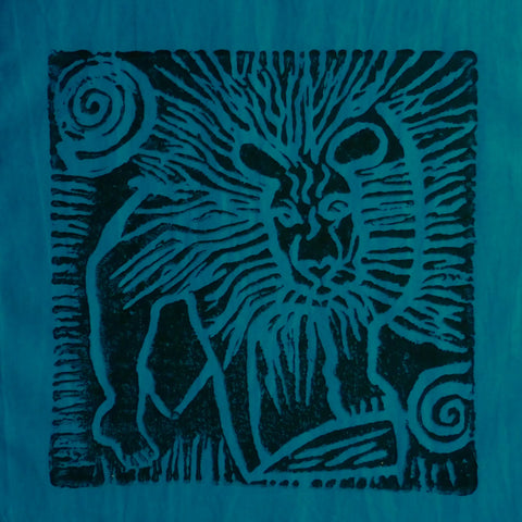 South African Panel - Lion in Teal