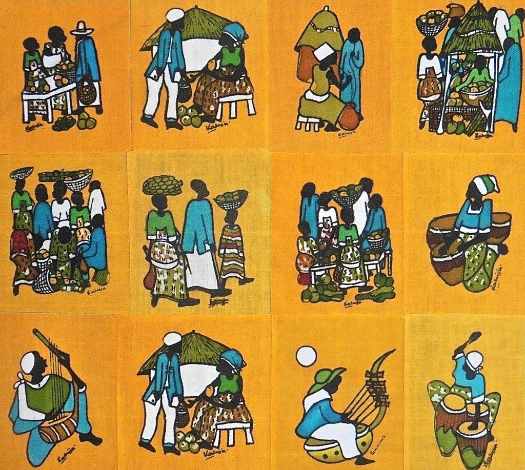 Ugandan Batik Art - Medium Yellow Batik