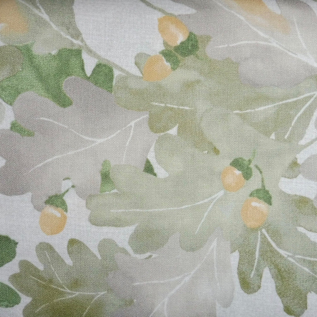 Japanese Quilting Print - Green Oak Leaf