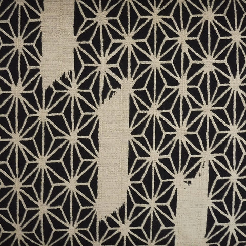 Japanese Dobby Cloth - Black Paintbrush on Hemp Leaf