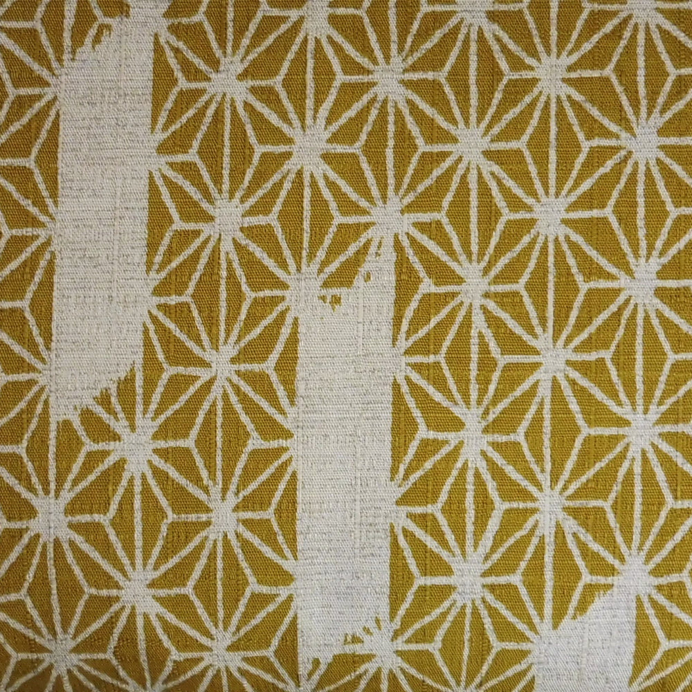 Japanese Dobby Cloth - Mustard Painted Hemp Leaf