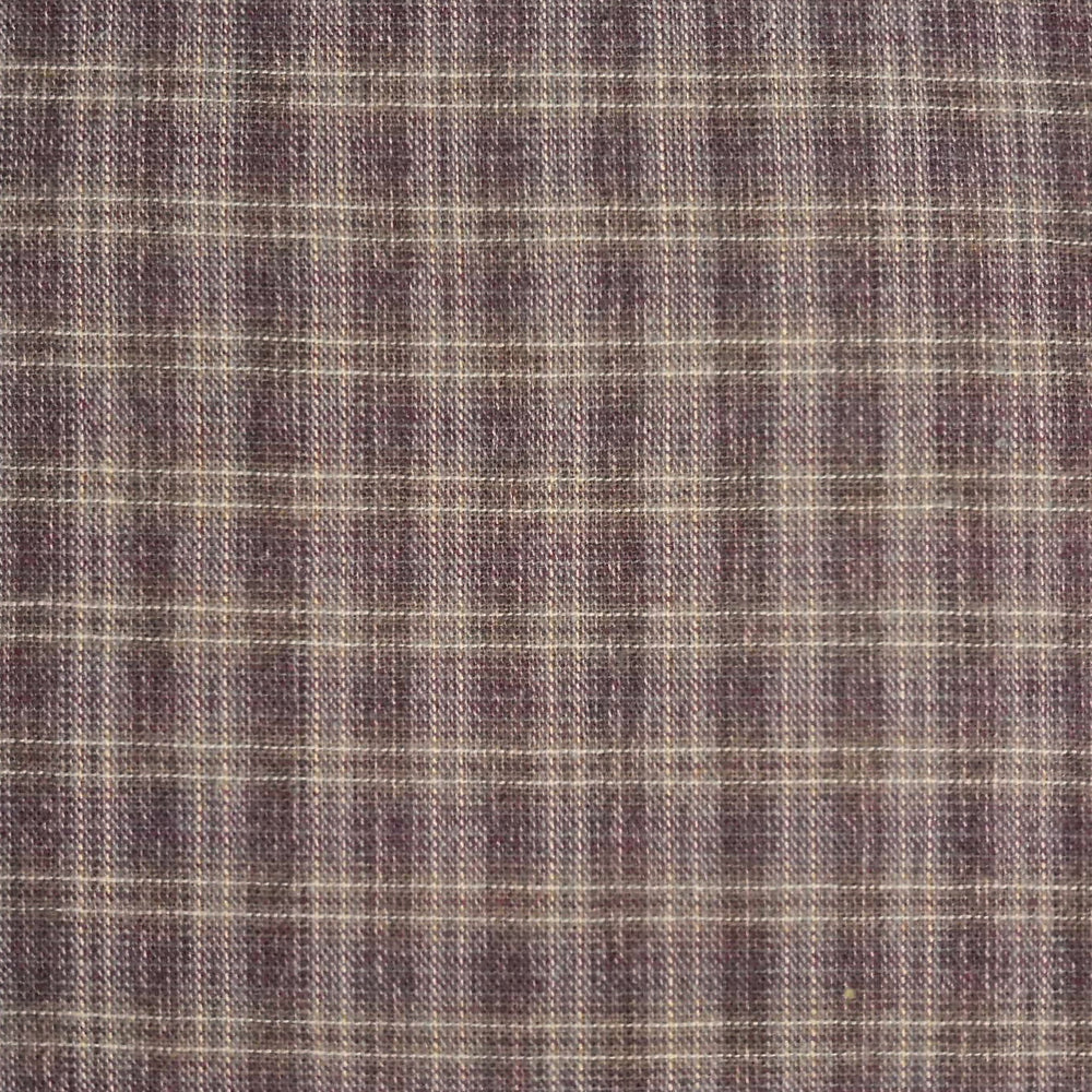 Japanese Yarn Dye - Purple Plaid Shirt