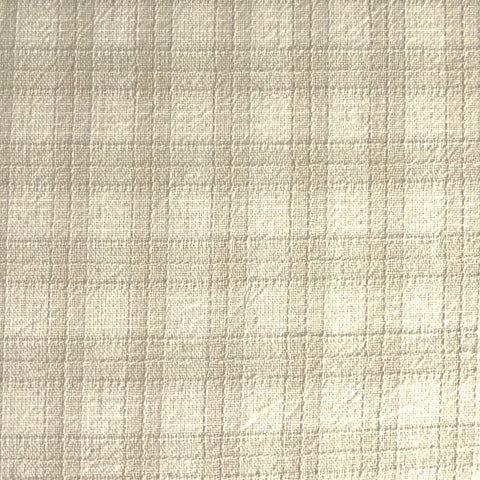 Japanese Yarn Dye - Cream and Tan Bold Plaid