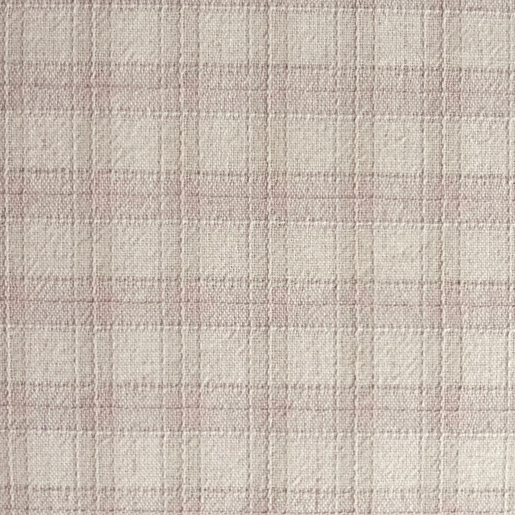 Japanese Yarn Dye - Light Pink Bold Plaid