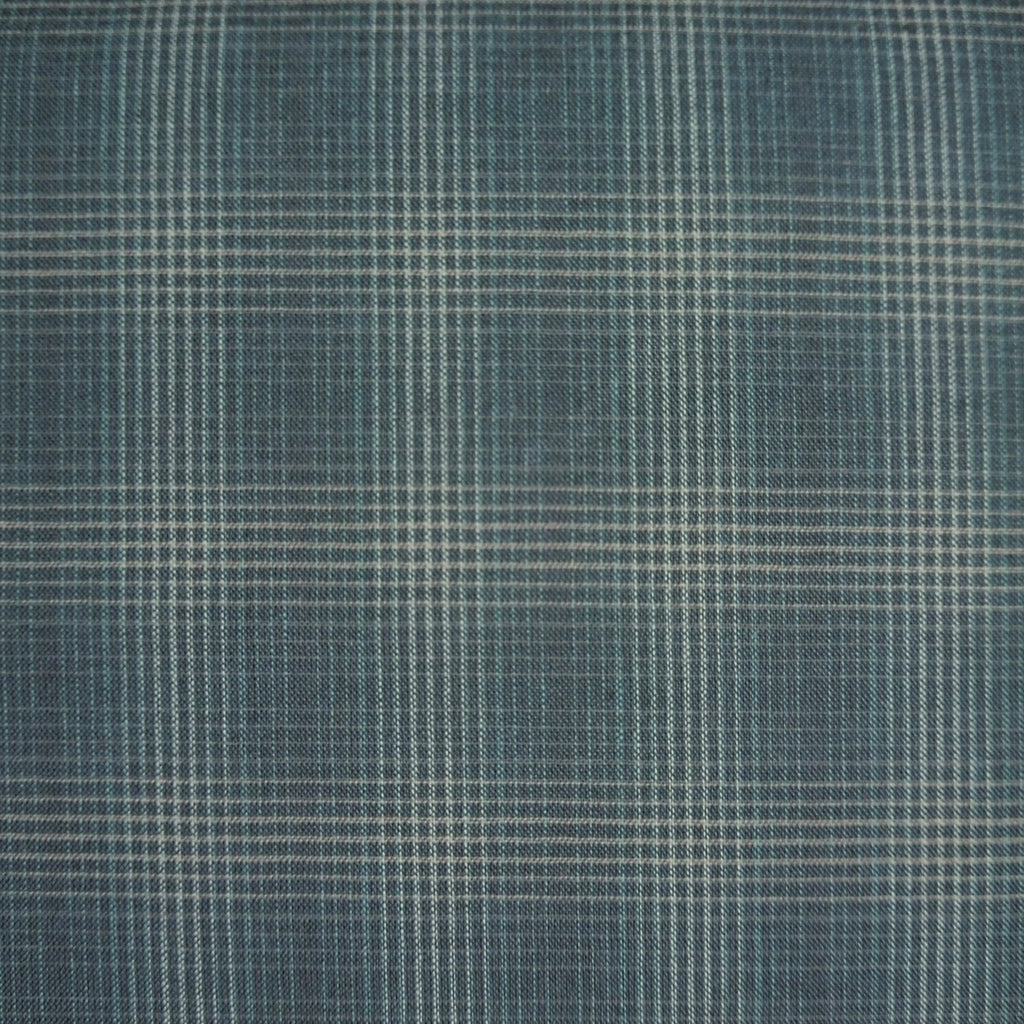 Japanese Yarn Dye - Blue Dense Plaid