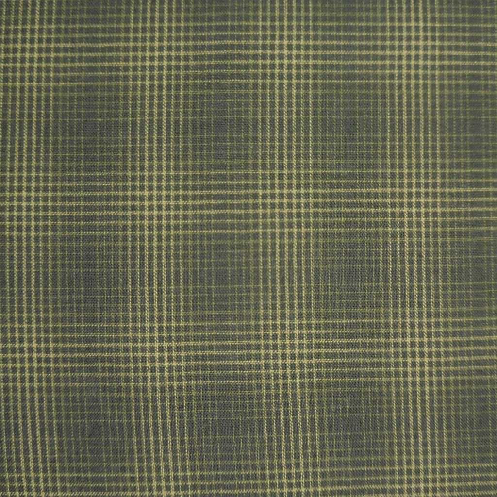 Japanese Yarn Dye - Green Dense Plaid