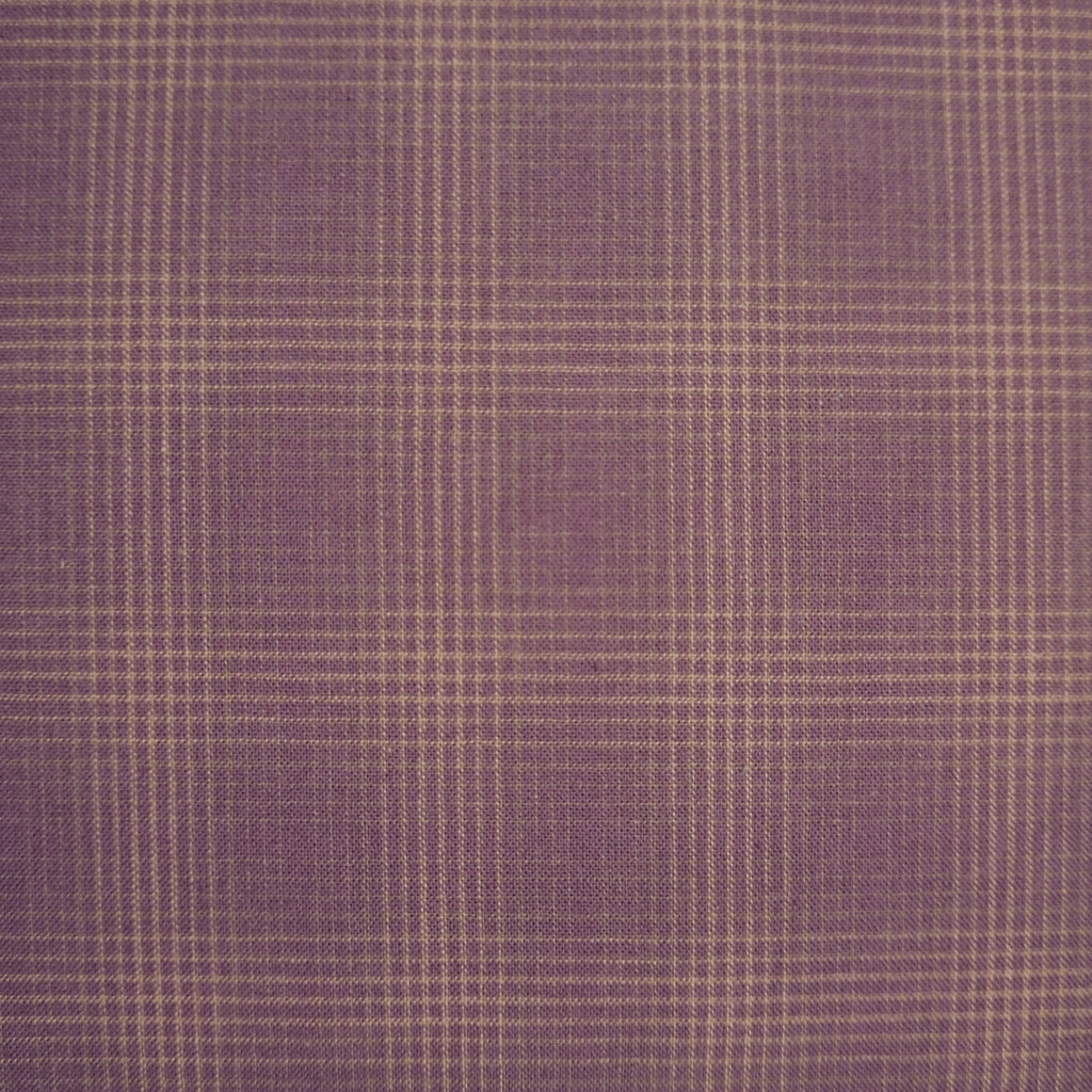 Japanese Yarn Dye - Plum Dense Plaid