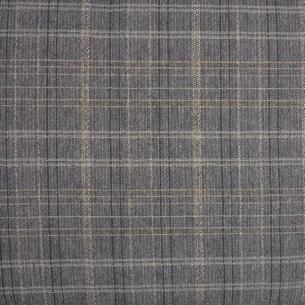Japanese Yarn Dye - Dark Grey Medium Plaid