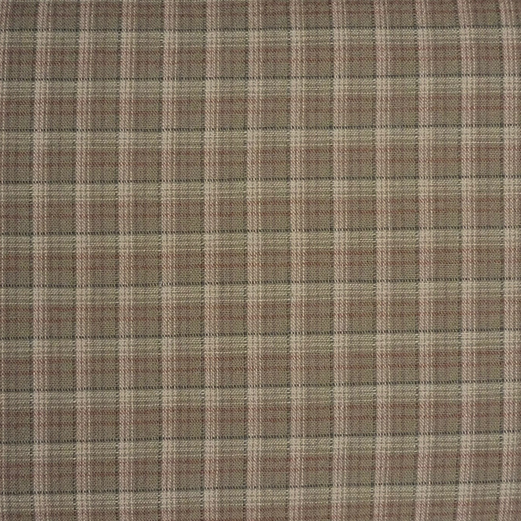 Japanese Yarn Dye - Olive Green Plaid Shirt