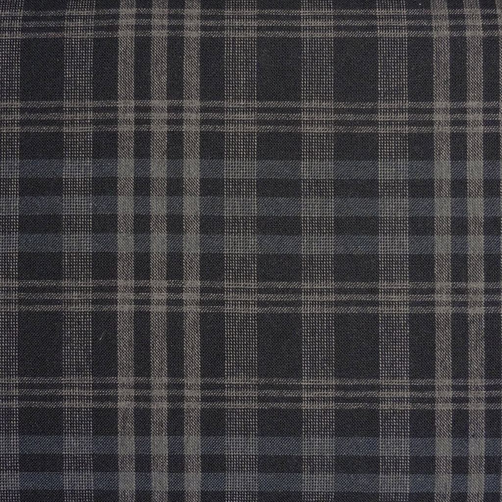 Japanese Yarn Dye - Black Large Uneven Plaid Shirt