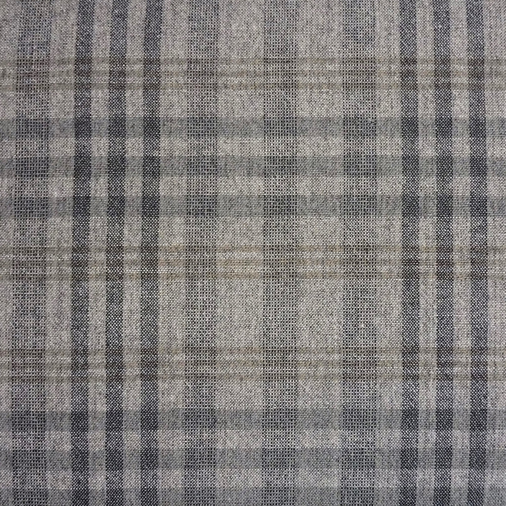 Japanese Yarn Dye - Grey Large Uneven Plaid Shirt