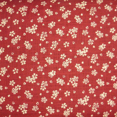 Japanese Dobby Cloth - Plush Red Cherry Blossom