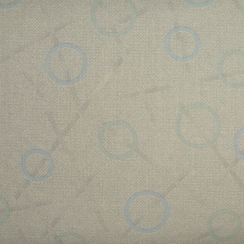 Japanese Quilting Print - Blue Rings on Taupe