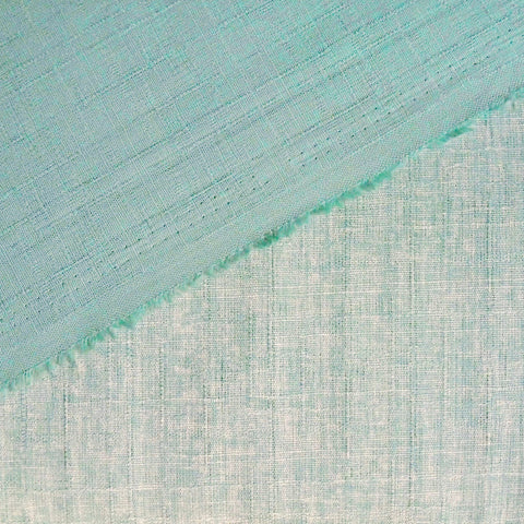 Japanese Dobby Cloth - Aqua Reversible Solid