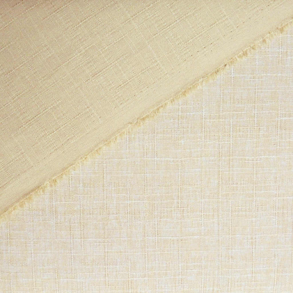 Japanese Dobby Cloth - Yellowish Beige Reversible Solid